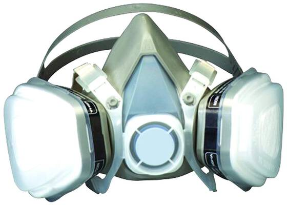 #6. 3M 07193 Dual Cartridge Organic Vapor P95 Nosh Approved Respiratory Assembly Mask (Large)