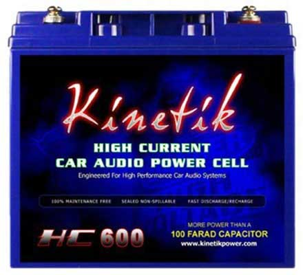 9. Kinetik HC600 Lead-Acid-Battery (Black)