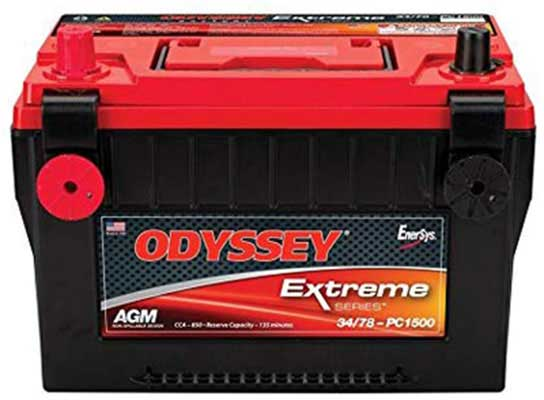 2. Odyssey Automotive 34/78-PC1500DT LTV Battery