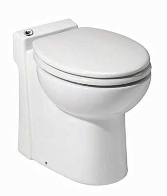 #1. Saniflo 023 Sani-compact Stylish Self-Contained Half-Bathroom One-Piece Toilet (White)