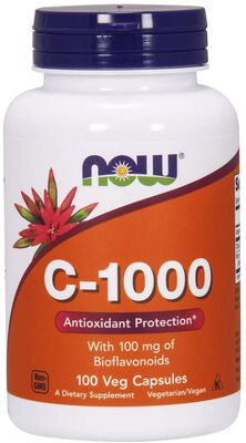 3. Now Vitamin C Supplements Capsules with Bioflavonoids for Antioxidant Protection