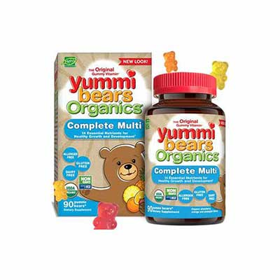 #8. Yummi Bears Organics Complete Multivitamin & Mineral Supplement Gummy for Kids