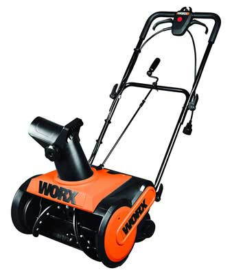 #4. WORX WG650 18'' 13 Amp Adjustable 180 Degrees Collapsible Electric Snow Thrower