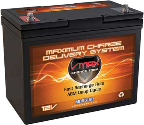 7. VMAX MR96-60 AGM 60AH 12V High Performance AGM Battery