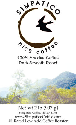 3. Simpatico Low-Acid Coffee – Ground