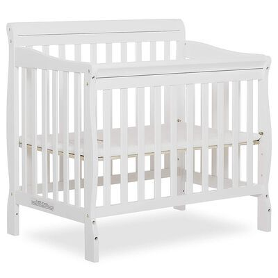 9. Dream On Me White 4 in 1 Mini Convertible Crib Suitable for Compact Spaces