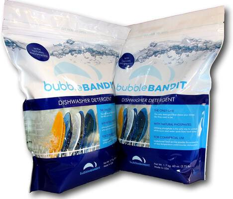 #4. Bubble Bandit 2 Pack Dishwasher Detergent w/Natural Phosphates Eliminate Limescale Buildup