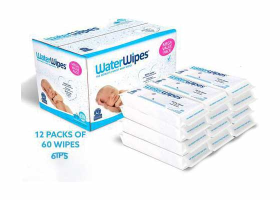 #7. WaterWipes 720 Count Unscented Baby Wet Wipes for Sensitive & Newborn Baby Skin