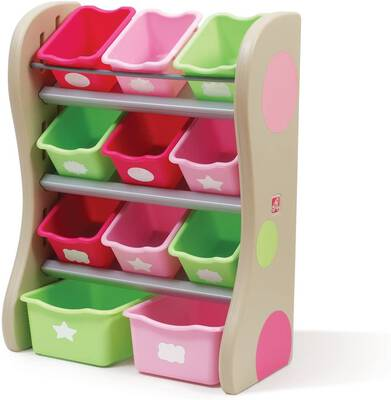 #10. Step2 Fun Time Toy Storage and Room Organizer, Pink