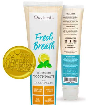 1. Oxyfresh Fresh Breath Toothpaste - Dentist Recommended