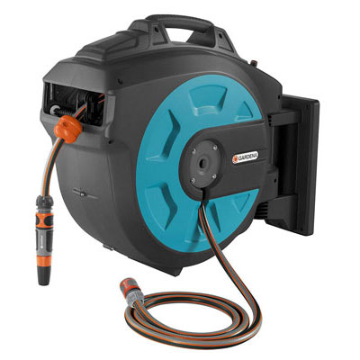 10. GARDENA Retractable Hose Reel with a Convenient Hose Guide