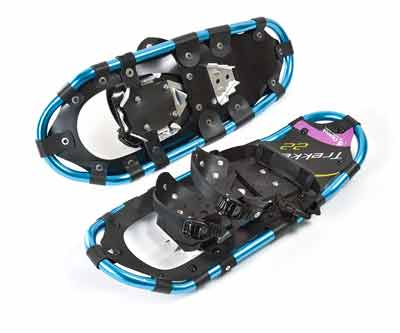 #4. Chinook 80002 Lightweight UV Resistant Aluminum Crampons Trekker Snow Shoes 22 (Blue)
