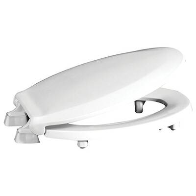 #2. Centoco Elongated HL800STS-001 2 inches Lift Plastic Toilet Seat, White