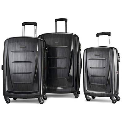 #1. Samsonite Winfield 2-Hardside 20'' Carry-On Side Mounted TSA Lock Sturdy Luggage Suitcase Set