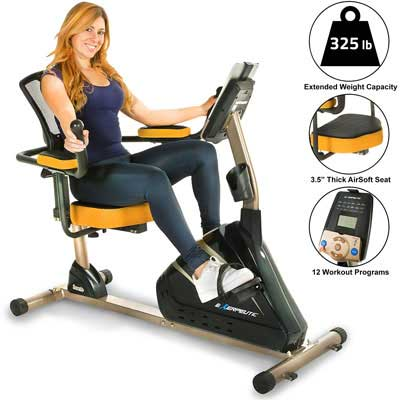 3. Exerpeutic 4000 Recumbent Bike - 12 Workout Programs