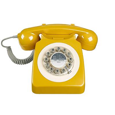 #8. Wild Wood Rotary Retro Push Button Dial Classic Fresh Colorful Twist Landline Phone for Home