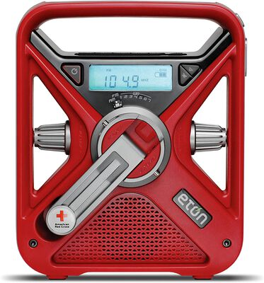 2. Eton Red Beacon All Purpose Emergency SOS Alarm and Radio for Crisis Operations