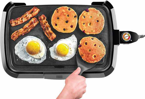 #5. Chefman Electric Griddle, Fully Immersible and Dishwasher Safe Features