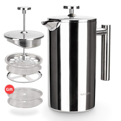 6. Secura French Press Coffee Maker (1000ML)
