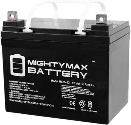 10. Mighty Max Battery 12V 35AH ML35-12 Solar Battery