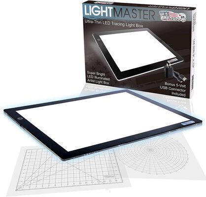 1. US Art Supply White Dimmable Light Pad for Tracing Ideal for Scrapbooking and Quilting
