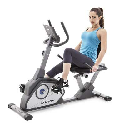 7. Marcy Recumbent Exercise Bike w/Eight Resistance Levels