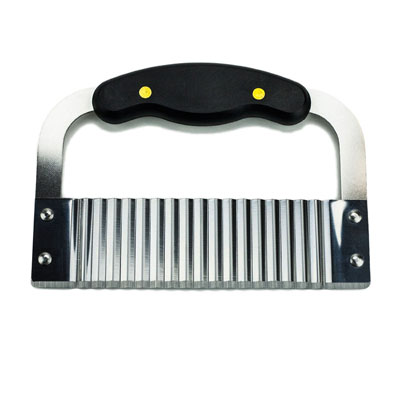 #10. Huji Black Handled Crinkle French fry Cutter