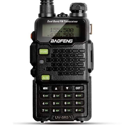6. Baofeng Walkie Talkie with an Upgraded Earpiece