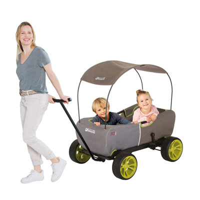 1. Hauck Eco Folding Wagon - Forest Green