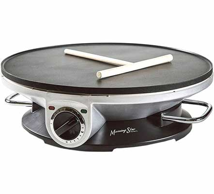 #4. Morning Star- Crepe Maker Pro-13 Inch Crepe Maker and Electric Griddle
