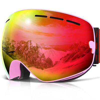 1. COPOZZ Ski Goggles, with Anti Fog Protection for Boys and Girls