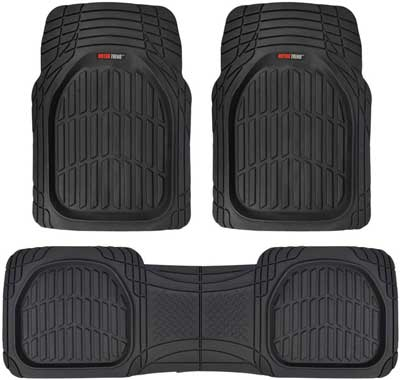 #5. Motor Trend MT-92-BK 4 Pcs Flex Tough Contour Liners All-Weather Mats