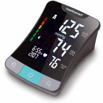 #4. HealthSmart Blood Pressure Monitor - Clinically Accurate LCD Screen, Black