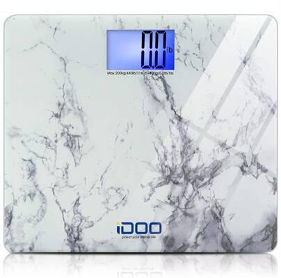 #6. iDOO High Precision Bathroom Weight Scale with an Elegant Marble Design