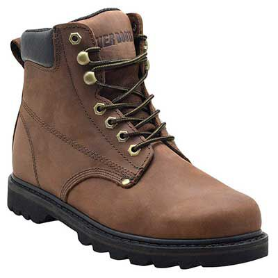 #6. EVER BOOTS Men's Leather Work Boot with Rubber Sole