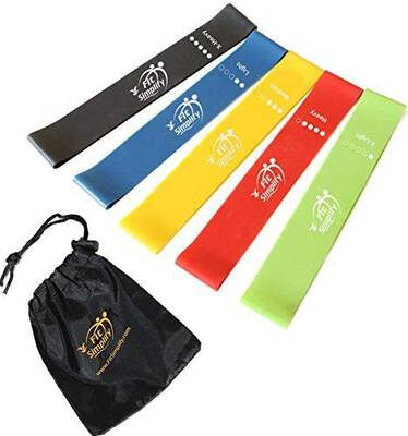 #8. Fit Simplify Resistance Loop Exercise Bands with Instruction Guide