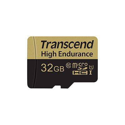 #3. Transcend 32 GB Micro card with an adapter