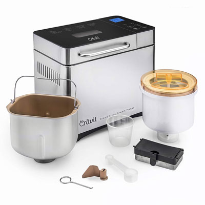 9. Cravit Bread Maker and Ice Cream Maker Combo