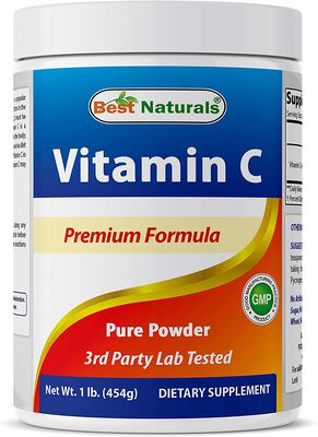 7. Best Naturals 100% Pure Powdered Vitamin C Supplements with a Weight of 454 Grams