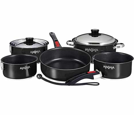 #4. Magma Nesting Induction Cookware-10 Piece