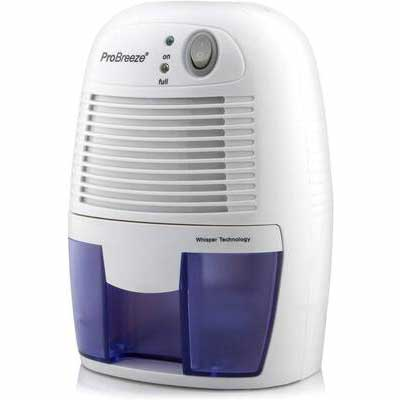 #9. Pro Breeze 150 Sq. Ft Compact & Portable Electric Mini Dehumidifier for High Humidity in Home