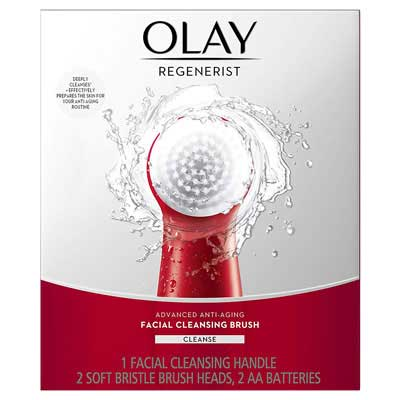 4. Olay Regenerist Facial Cleansing Brush with Two Brush Heads