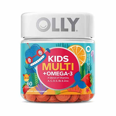 #7. Olly Chewable Supplement 30 Day Supply Multi+ Omega 3 Gummy Multivitamin for Kids