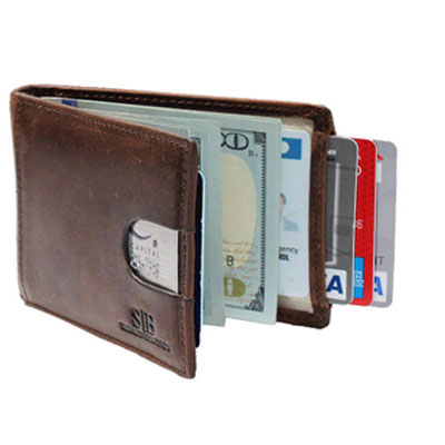 7. SERMAN BRANDS Leather Wallet