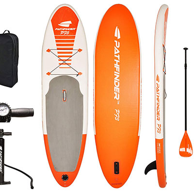 10- Pathfinder Inflatable SUP Board with a Carry Bag
