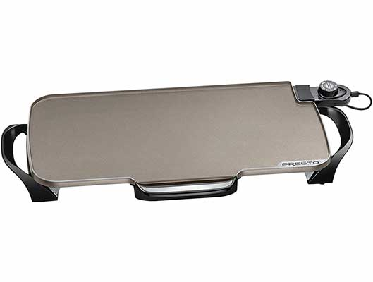 #6. Presto 07062 Ceramic 22 Inch Electric Griddle with Removable Handles