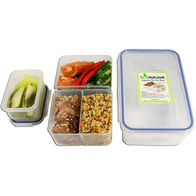 #8. EcoNaturell Airtight Bento Lunch Box Containers