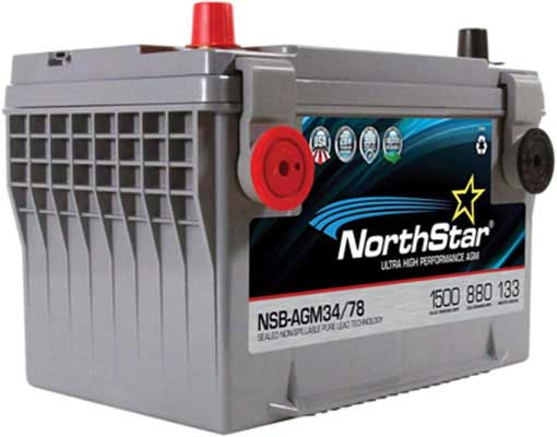 3. NORTHSTAR Pure Lead NSB-AGM34/78 Automotive Group 34/78 Battery