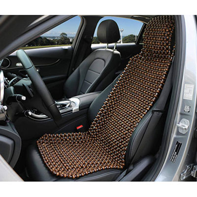 8. EXCEL LIFE Natural Wood Beaded Seat Cover