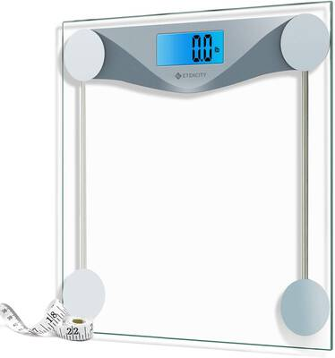 #7. Etekcity Digital Bathroom Scale, 8mm Tempered Glass